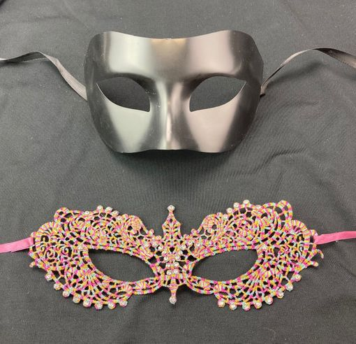 Fifty Shades Couples Masks With Jewels
