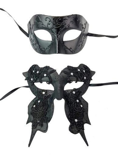 His And Hers Luxury Couples Masks Set