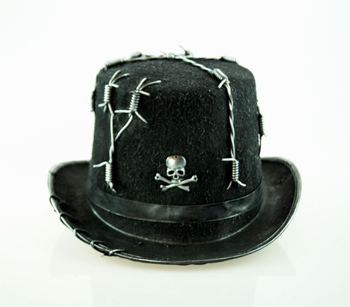 Barbed Wire Top Hat Silver