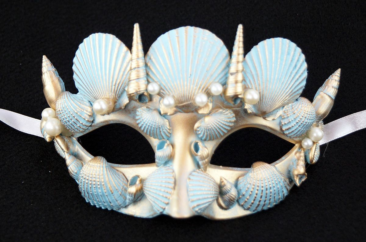 Mystical Seashell Masquerade Mask