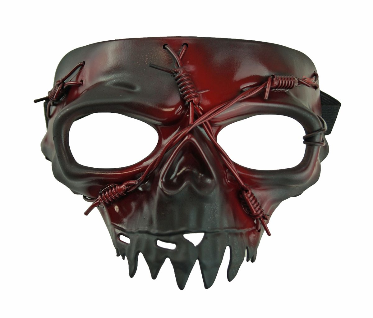 Black Zombie Skull Mask Costume Accessory