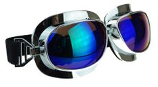 Supreme Aviator Pilot Goggles for Cruiser Chopper Motorcycle Oil Tint