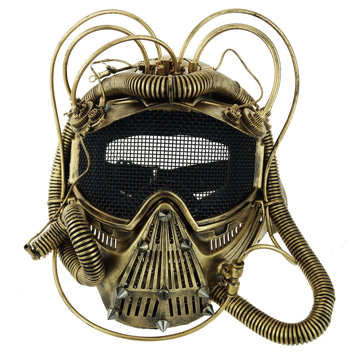 Space Mask Steampunk Style Gold