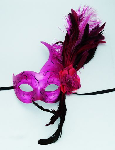 Party Feather Mask PInk