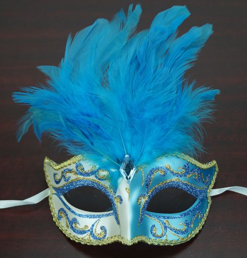 Patalone Feather Mask BLue