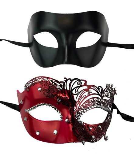 His And Hers Elegant Couples Venetian Masquerade Masks