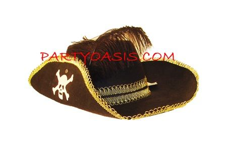 Pirate Hat w/ Feather