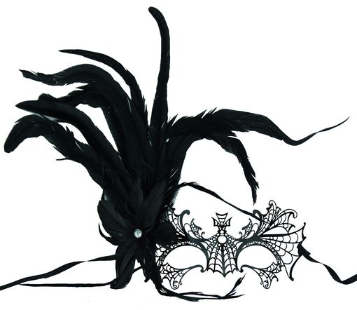 Premium Lazer Cut Halloween Metal Wing Mask