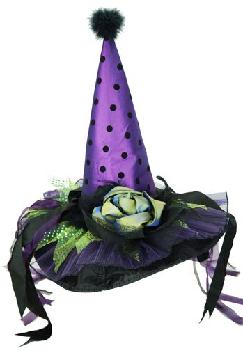Fancy Satin Witch Hat