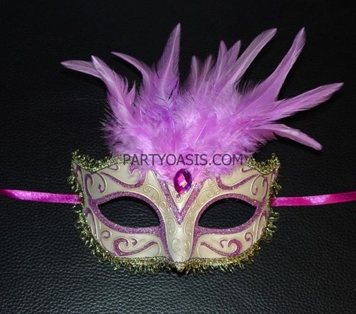 Princess Prom Masquerade Mask With Feathers
