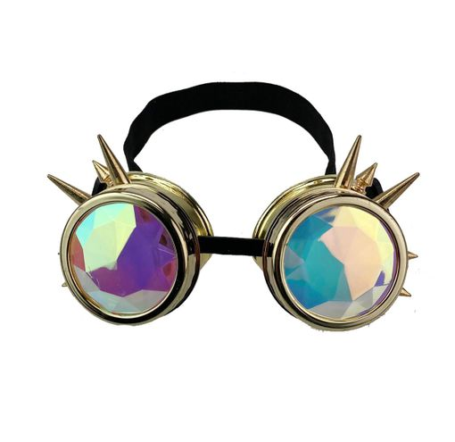 Psychedelic Goggles Burn Man Steampunk Goggles