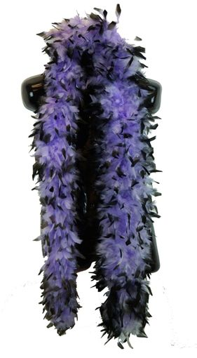 Purple and Black Feather Boa