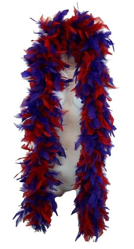 Purple and Red Feather Boa 6 Ft; 70 Grams