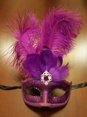 Purple Feather Eye Mask