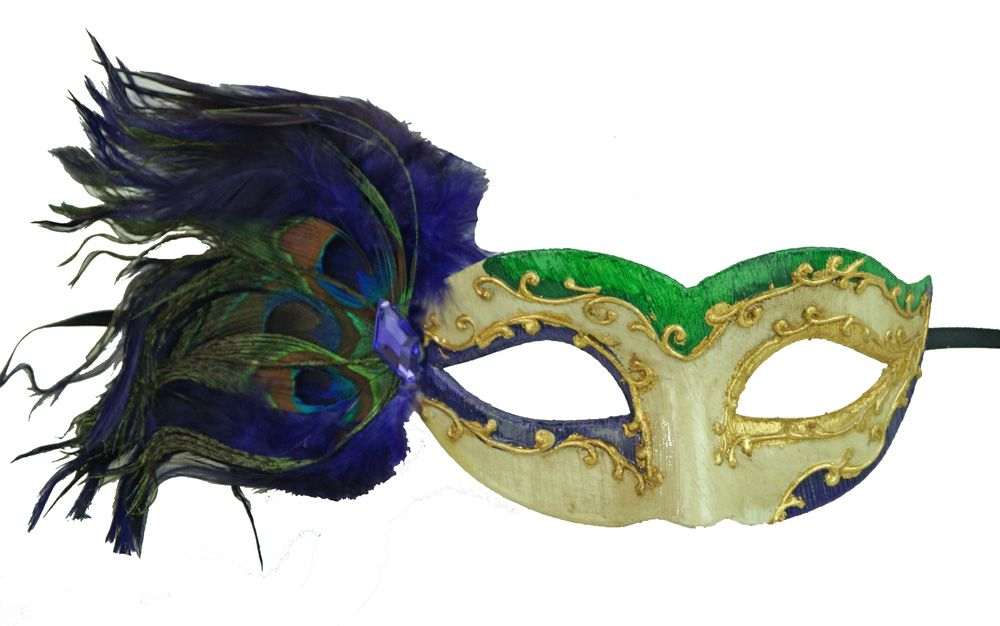 Purple Feathers Masquerade Mask