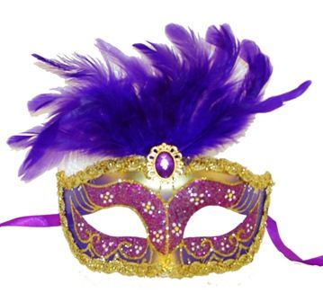 Purple Feather Masquerade Eye Mask
