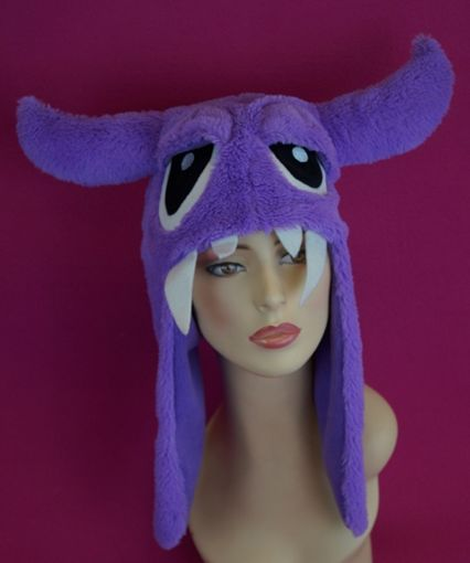 Purple Furry Monster Hat