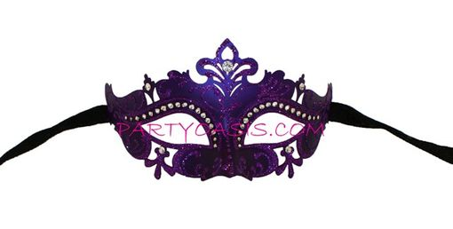 Purple Lazer Cut Mask