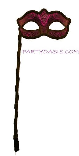 Purple Masquerade Stick Mask