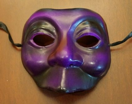 Purple Halloween Mask