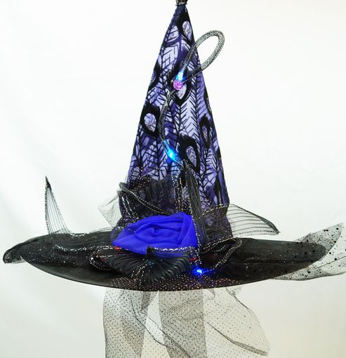 Purple Witch hat With Lights
