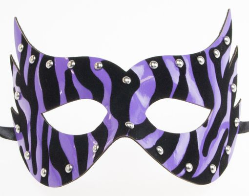 Purple Zebra Mask