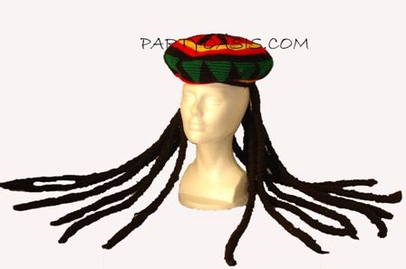 Rasta Man Hat with Dreads