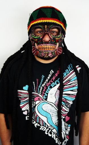 Rasta Mask With Hat & Dreads