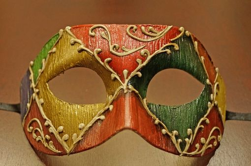 Multi Color Men's Venetian Style Masquerade Eye Mask