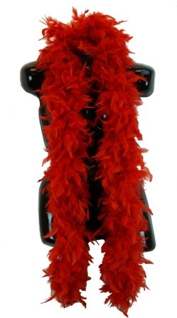 Red Feather Boa 70 Grams