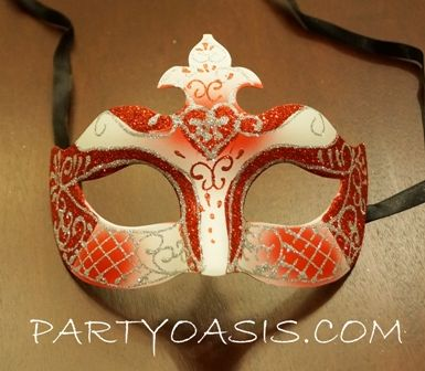 Red Masquerade Princess Mask
