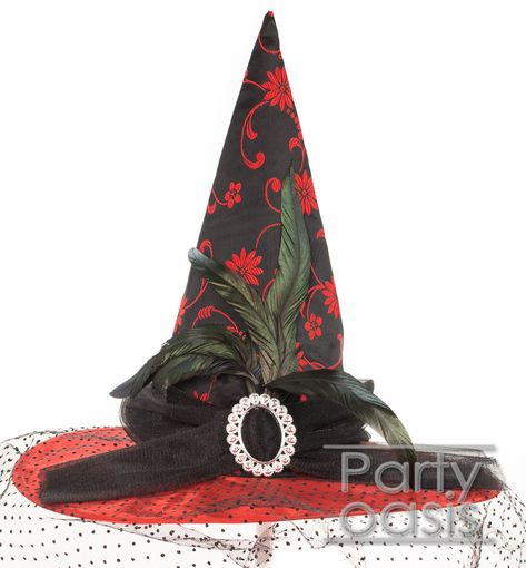 Victorian Red Witch Hat