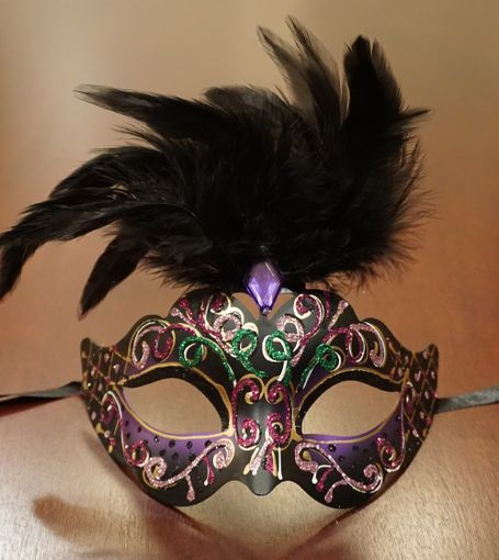 Rio Masquerade Mask In Purple Color With Feathers