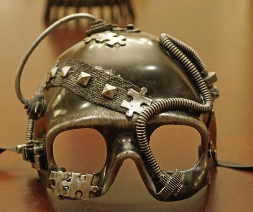 Road Warrior Steam Punk Mask Silver