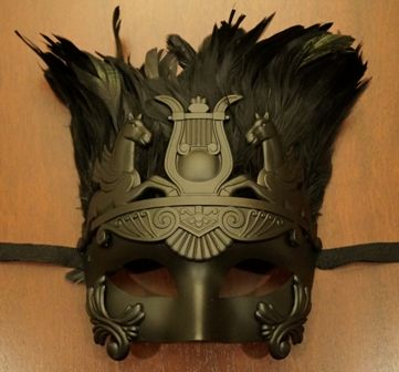 Roman Warrior Feather Eye Mask
