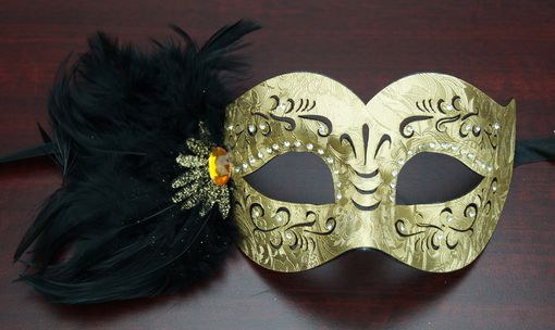 Sade Leather Mask Gold