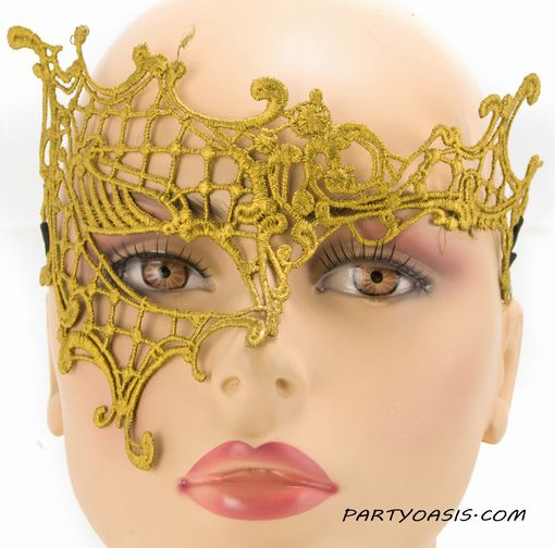 Sharee Embroidered Eye Gold Masquerade Mask