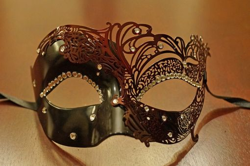 Shaylena Black Metal Mask