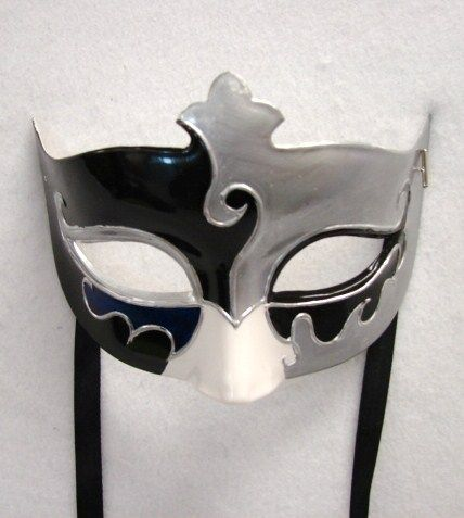 Silver Black Eye Mask