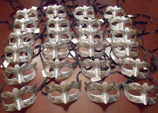 Silver Masquerade Masks Party Pack
