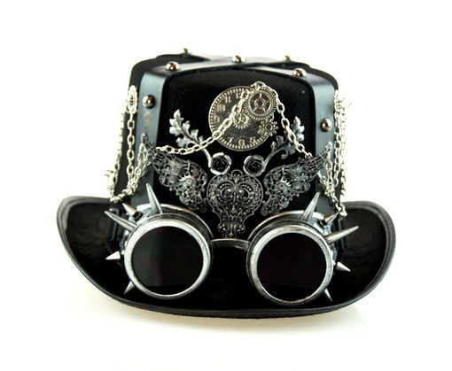 Silver Military Steampunk Hat