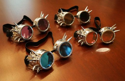 Silver Spiked Goggles
