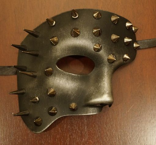 Silver Spiked Phantom Mask