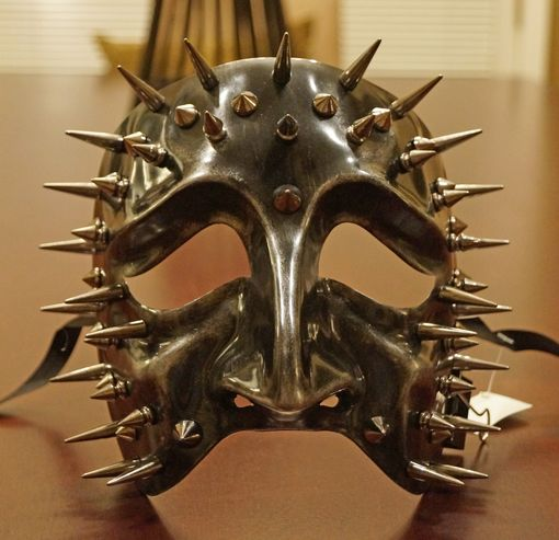 Silver Spiked Tragedy Mask