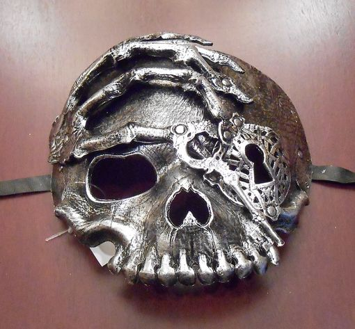 Silver Steam Punk Skull Mask
