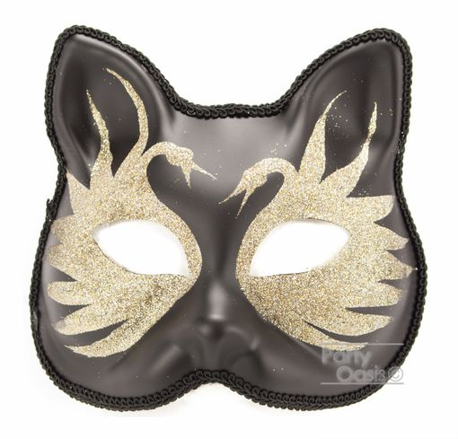 Silver Swan Cat Mask