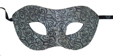 Silver Swirl Eye Mask