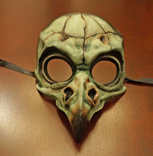 Skull Bird Mask Green
