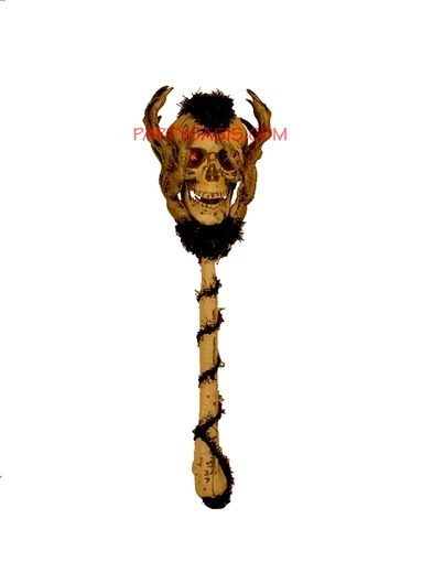 Skull Wand With L.E.D Flashing Eyes