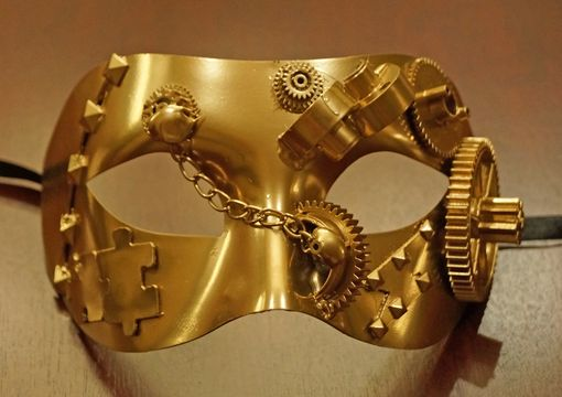 Solid Gold Steam Punk Eye Mask